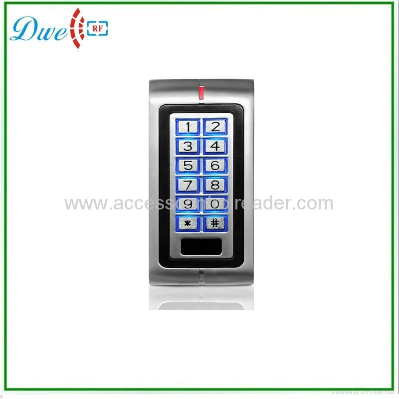 12V- 24VDC waterproof metal keypad single door standalone access controller   1