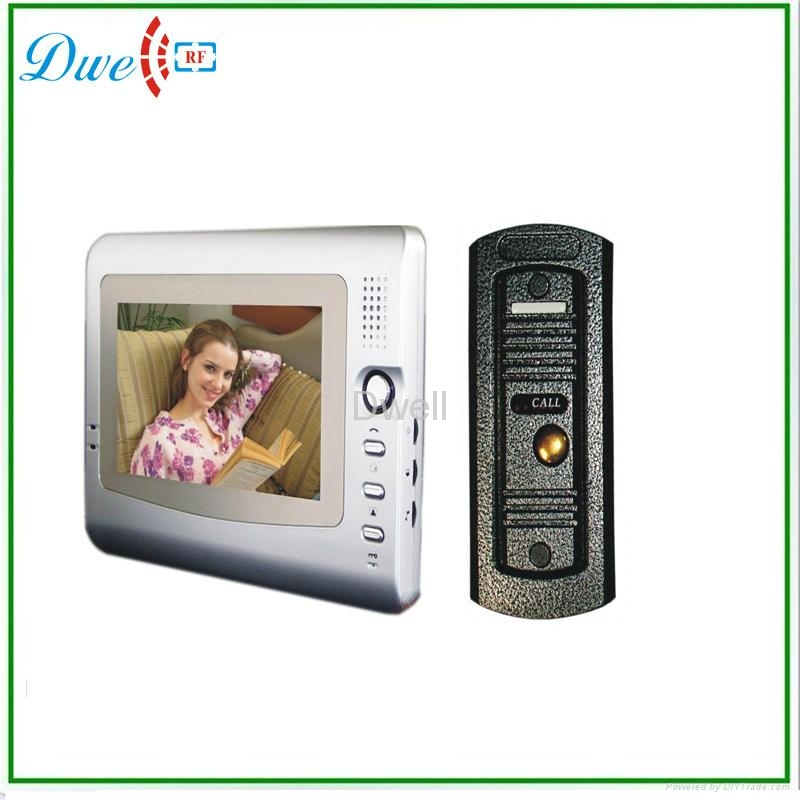 7 inch  video door phone for villa with pin hole camera