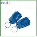 125khz frequency  abs passive rfid tag keychain