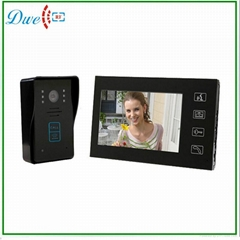 7 inch wired video door phone with id