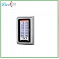 Waterproof metal case keypad reader