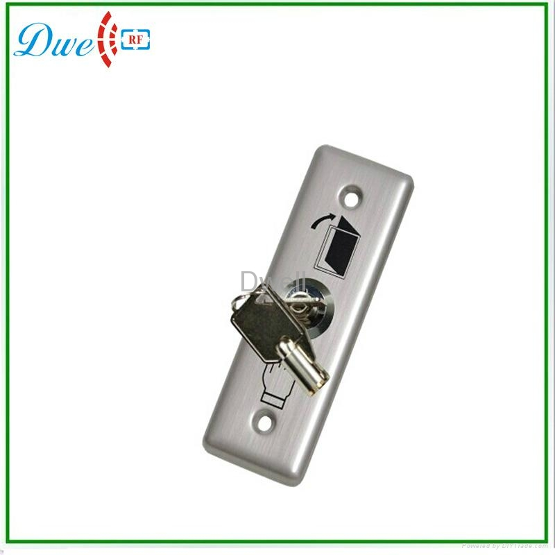 Stainless steel key switch push button with no nc  1