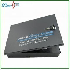 控制器机箱电源箱微耕控制板机箱电源12V5A门禁专用电源可带电池