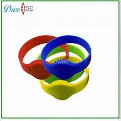 silicone RFID tags, EM or MF wristband K008