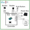 waterproof blacklight  keypad access control reader 002C 8
