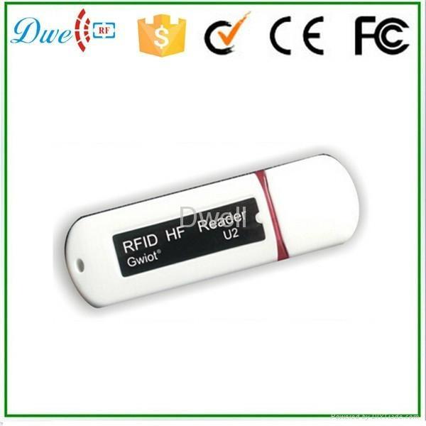 125khz or 13.56mhz U disk Android RFID Reader 3