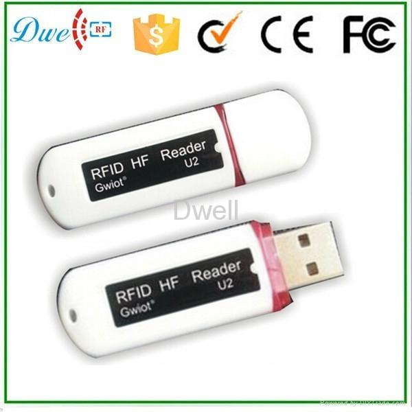 125khz or 13.56mhz U disk Android RFID Reader 4