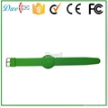 mixed color 125khz or  13.56mhz mf 1k adjustable silicon rfid wristband