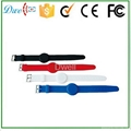 mixed color 125khz or  13.56mhz mf 1k adjustable silicon rfid wristband 3