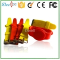 mixed color 125khz or  13.56mhz mf 1k adjustable silicon rfid wristband 5
