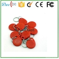 125khz EM ID or 13.56mhz F08 S50 S70 ABS keyfob  for access control system