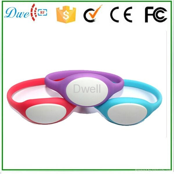 silicone rfid wristband tag  id token mixed color  4