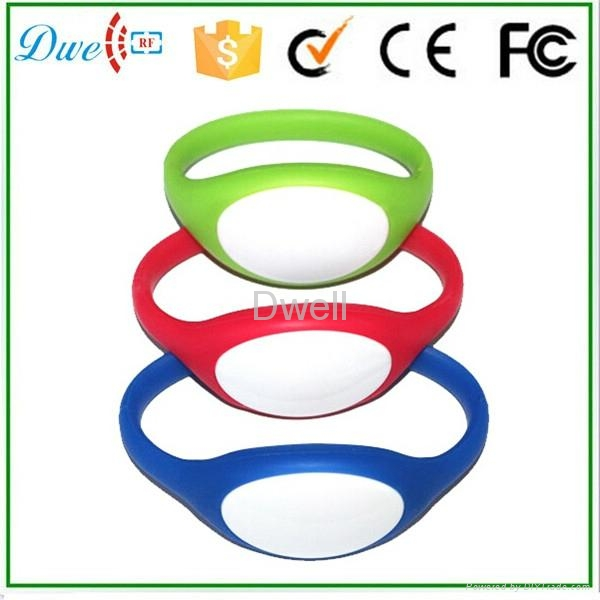 silicone rfid wristband tag  id token mixed color  1