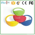 Silicone Waterproof 65mm 74mm Diameter RFID Wristband Bracelet Tag