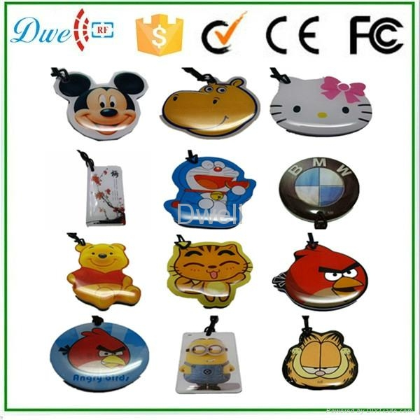 Lovely Cartoon Character Epoxy RFID Keyfobs Crystal Glue tag Epoxy Card 3