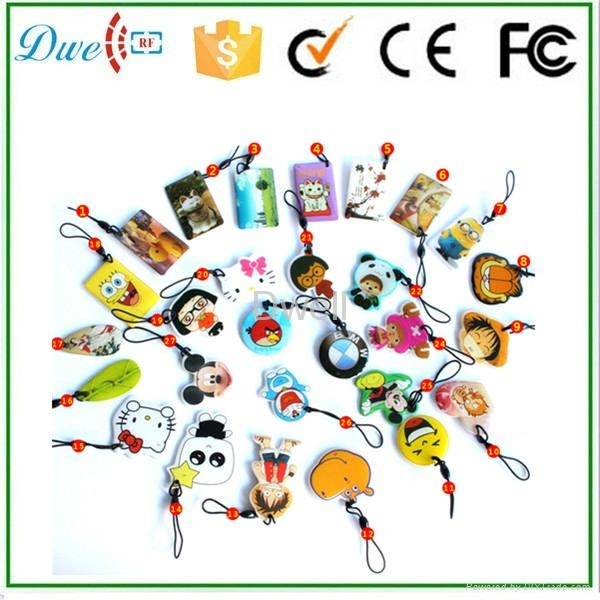 Lovely Cartoon Character Epoxy RFID Keyfobs Crystal Glue tag Epoxy Card 2