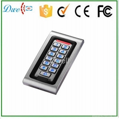 waterproof metal rfid card reader wiegand 26 keypad
