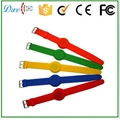 mixed color 125khz or  13.56mhz mf 1k adjustable silicon rfid wristband 1
