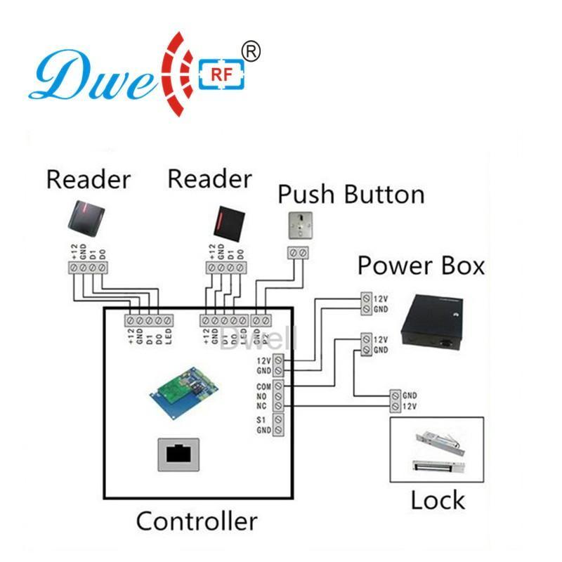 rf id 125khz rfid access control card reader wiegand 26 wiegand 34  5