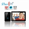 9ch color wired video door phone intercom door opening system with 8G SD card