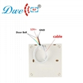 12V door chime access control wired dingdong doorbell button no battery