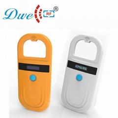 rf ear tag reader mini fdx-b display rfid 134.2khz pet/animal id reader scanner