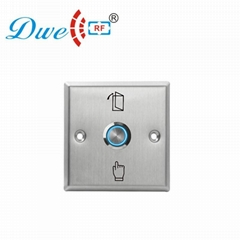 Stainless steel push button switch with blue led light