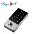 125khz metal waterproof ip 68 smart card standalone rfid fingerprint access cont