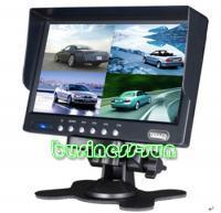 "7"" car LCD Monitor 4 Channels Video Input 4ch signal"