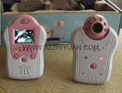 "1.5"" inches LCD screen 2.4G Wireless color baby monitor Camera Night version"