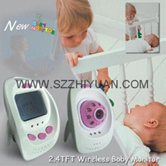 LCD screen 2.4G Wireless color baby monitor Camera Night version