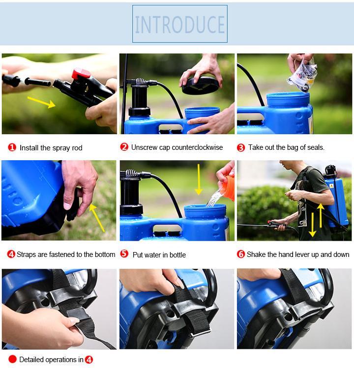 16L/18L Agricultural Backpack Manual Hand Pressure Pump Sprayer 4