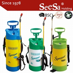 5L/8L Garden Hand Manual Power Pressure Pump Sprayer