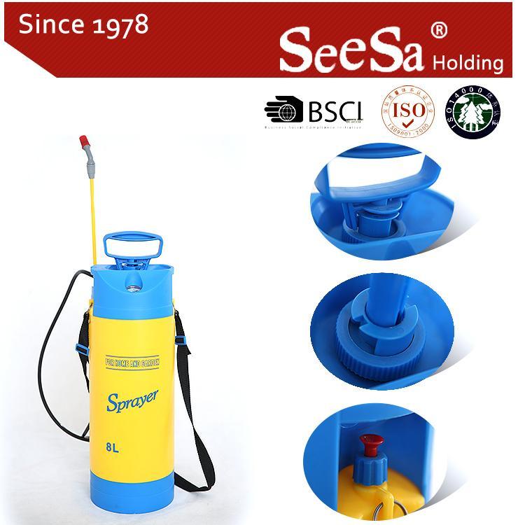 5L/8L Garden Hand Manual Power Pressure Pump Sprayer  4