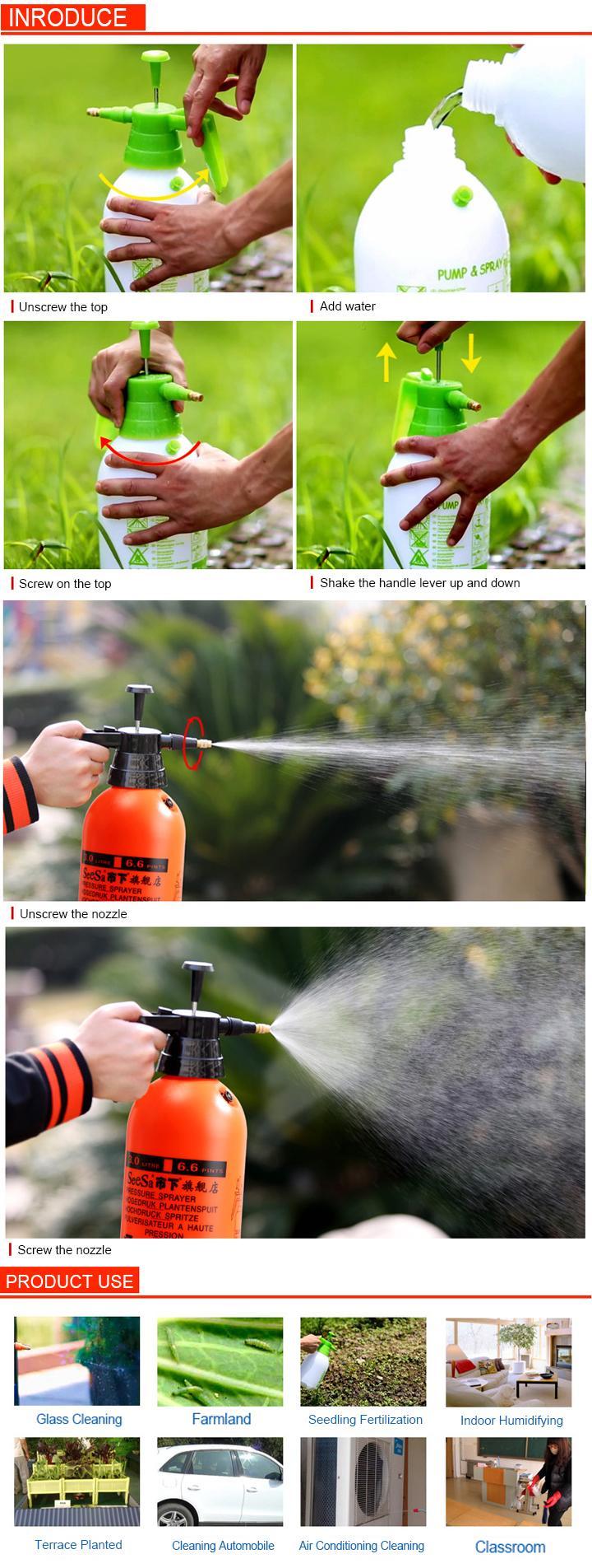 500ml Household Hand Pressure Water Trigger Sprayer Bottle     6