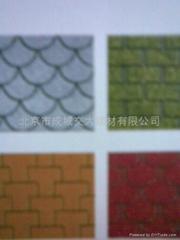 北京久申牌多彩瀝青油氈瓦
