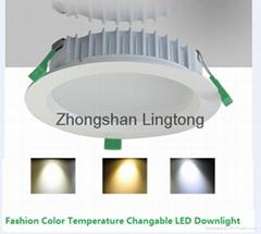 Color Temperature Changable  LED Downlight