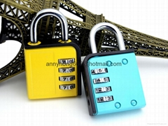 Top Secuirty 4 Digits Resettable Combination Padlock