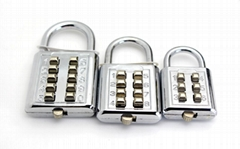 High Quality 3 Size Combination Button Padlock