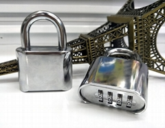 Top Security 4 Digits Resettable Gym Combination Lock, Combination Padlock