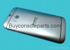Genuine HTC One M8 Battery back cover Gunmetal Grey rear Housing + camera glass
