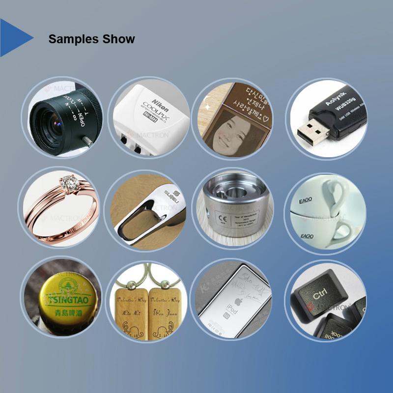 YAG灯泵金属激光打标机 5