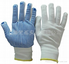 13針加厚尼龍點珠手套