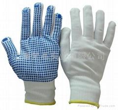 13针灰色尼龙内胆掌浸灰色PU手套