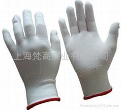 13针白色薄尼龙手套