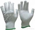 13針白色加厚尼龍手套