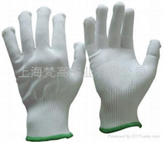 13针白色加厚尼龙手套