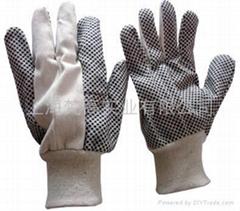 斜紋布點珠手套