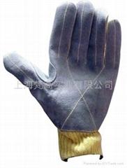 10针KEVLAR缝皮防割手套