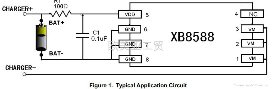 最小的锂电池保护芯片赛芯微XB8588D 3